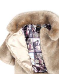 Ted Baker   Beige Oscai Faux Fur Jacket   Lyst