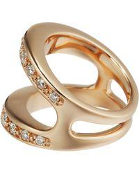 Hoorsenbuhs - Metallic Diamond Rose Gold Masque Ring - Lyst