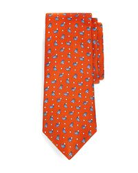 Brooks Brothers - Orange Walrus Print Tie for Men - Lyst