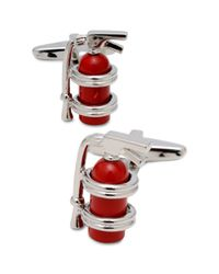 Kenneth Cole Reaction   Silver Fire Extinguisher Cufflinks for Men   Lyst