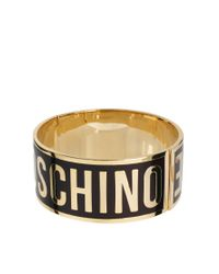 Love Moschino | Purple Large Logo Bracelet | Lyst