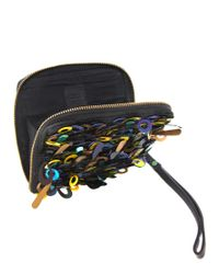 ASOS | Black Loop Sequin Clutch | Lyst
