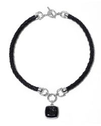 Brooks Brothers - Black Equestrian Leather Necklace - Lyst