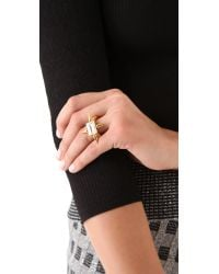 Fallon - Metallic Classique Spike Ring - Lyst