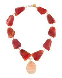 Devon Leigh - Red Agate and Moonstone Necklace - Lyst