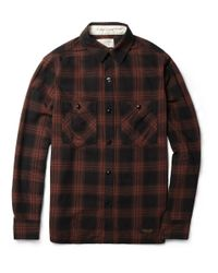 Neighborhood Black Check Cotton Shirt for men