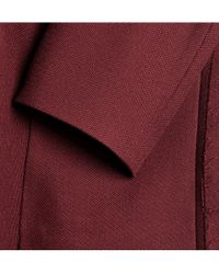 Undercover Red Concealed Doublebreasted Wool Coat for men