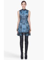 Versus - Blue Lace Dress - Lyst