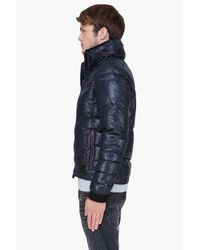 DIESEL - Black Padded Hooded Weroxim Jacket for Men - Lyst