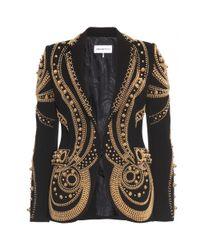 Emilio Pucci | Black Metallic Bead Embroidered Blazer | Lyst