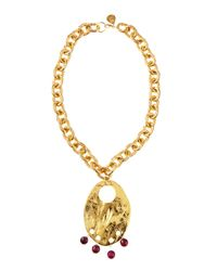Devon Leigh - Metallic Berry Drop Chain Necklace - Lyst