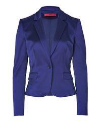 HUGO - Dark Purple Satin Afiraly One Button Jacket - Lyst