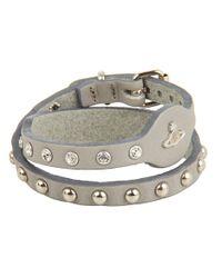 Vivienne Westwood - Metallic Thin Leather Cuff - Lyst