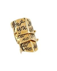 Vivienne Westwood - Metallic Kiss Me Twice Armour Ring - Lyst