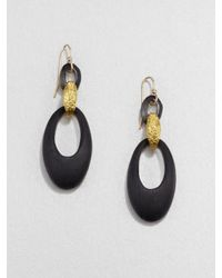 Alexis Bittar | Black Lucite Double Link Earrings | Lyst