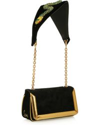 Christian Louboutin | Black Artemis Medusa Suede Shoulder Bag | Lyst