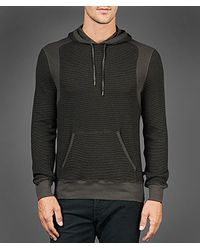 John Varvatos | Brown Waffle Pullover Hoodie for Men | Lyst