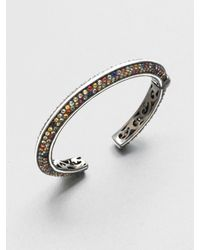 M.c.l  Matthew Campbell Laurenza | Multicolored Sapphire Sterling Silver Bracelet | Lyst