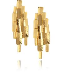Aurelie Bidermann - Metallic Machu Picchu 18karat Goldplated Clip Earrings - Lyst