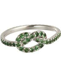 Finn - Green Tsavorite Love Knot Ring - Lyst