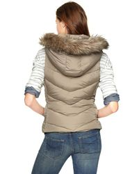 Gap | Gray Furtrim Puffer Vest | Lyst