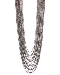 BaubleBar - Metallic Dark Mesh Necklace - Lyst