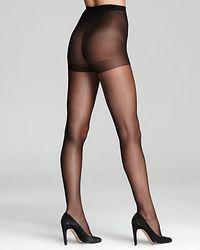 Calvin Klein - Black Hosiery Tights Sheer Backseam - Lyst