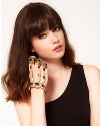 ASOS | Black Multi Finger Baroque Hand Harness | Lyst