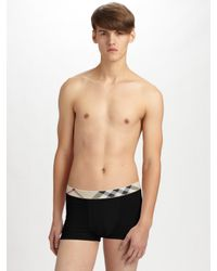 Burberry - White Check-waist Boxer Briefs for Men - Lyst