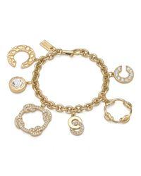 COACH | Metallic Op Art Knot Charm Bracelet | Lyst