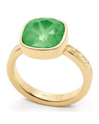 COACH | Green Square Stone Ring | Lyst