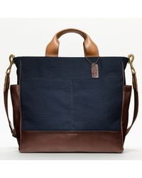 COACH | Blue Bleecker Legacy Canvas Utility Tote for Men | Lyst