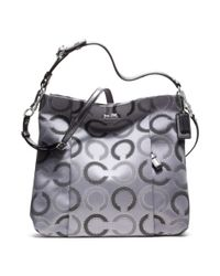COACH - Gray Madison Dotted Op Art Outline Isabelle - Lyst