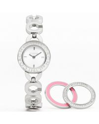 COACH | Metallic Kristy Interchangeable Bezel Bracelet | Lyst