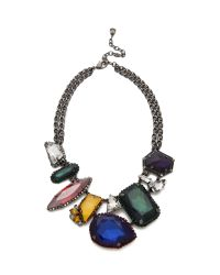 Erickson Beamon | Multicolor Oxidized Colored Stone Necklace | Lyst