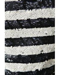 Nasty Gal | Blue Sequin Stripe Crop Top | Lyst