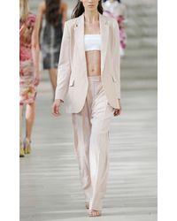 Preen By Thornton Bregazzi | Beige Bigger Fold Trousers in Nude | Lyst