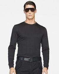 Ralph Lauren   Black Label Longsleeved Leatherpatch Cotton Interlock Crewneck for Men   Lyst
