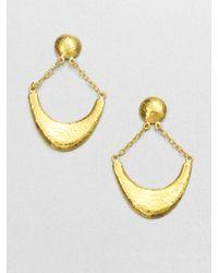 Gurhan   Metallic Arc 24k Yellow Gold Crescent Drop Earrings   Lyst