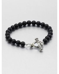 King Baby Studio | Metallic Black Onyx Beaded Bracelet for Men | Lyst