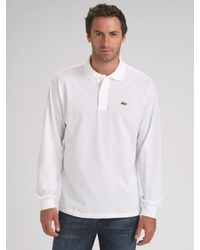 Lacoste | White Classic Piqué Polo for Men | Lyst