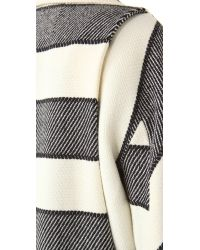 Rag & Bone - White Striped Woolblend Coat - Lyst