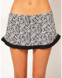 Freya | Gray Manhattan Skirted Bikini Bottom | Lyst