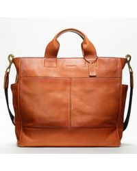 COACH | Brown Bleecker Legacy Leather Utility Tote for Men | Lyst