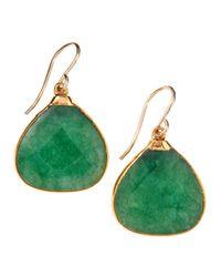 Devon Leigh - Green Amazonite Drop Earrings - Lyst