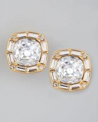 kate spade new york - Metallic On The Town Crystal Stud Earrings - Lyst