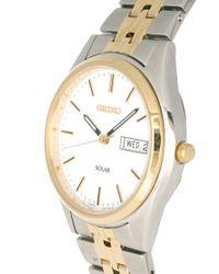 Seiko - Metallic Solar Gents Bracelet Watch Sne032p1 for Men - Lyst