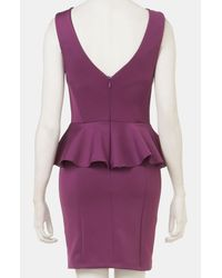 Topshop | Purple Peplum Dress | Lyst