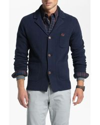 Fred Perry | Blue Jacket Cardigan for Men | Lyst