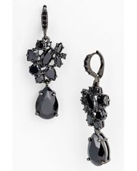 Givenchy | Black Petal Drop Earrings | Lyst